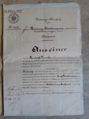 ACTE NOTARIALE VECHI 1896 - MARCA FIXA - TIMBRU SEC - FILIGRAN - CALIGRAFIE foto