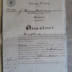 ACTE NOTARIALE VECHI 1896 - MARCA FIXA - TIMBRU SEC - FILIGRAN - CALIGRAFIE