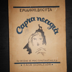 EMANOIL BUCUTA - CAPRA NEAGRA (1938, prima editie)