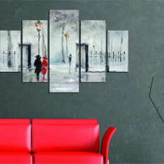 Tablou decorativ multicanvas Miracle, 5 Piese, Abstract, 236MIR2912, Multicolor