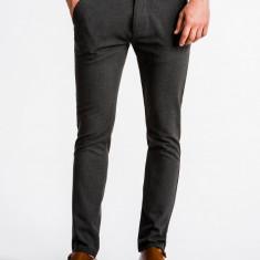 Pantaloni premium, casual, barbati - P832-gri-inchis