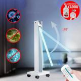 Lampa bactericida UVC 150W, portabila, cu brat mobil, timer si telecomanda, sterilizare suprafete, 120 mp, ProCart