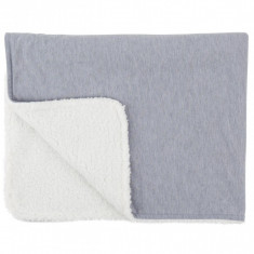 Paturica reversibila din tricot/fleece 90x70 cm Comfi Love Grey 844524 Children SafetyCare