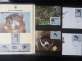 Serie timbre fauna WWF animale nestampilate filatelice postale
