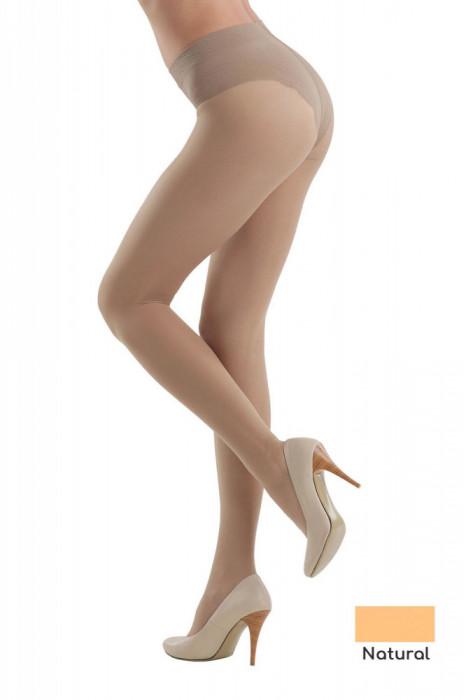 Ciorap Modelator cu Chilot Dantelat Style 20 Den - Natural, 2-S Standard