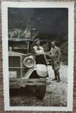 Domnisoara cu automobil de epoca, numar Piatra Neamt// fotografie, Portrete, Romania 1900 - 1950