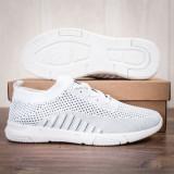 Pantofi sport barbati albi Fuguzi