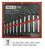 Set de chei inelare Yato YT-0250, 10 piese, 6-27 mm, cotite