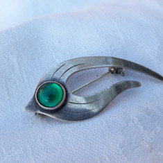 BROSA argint ULRICH brand de LUX DANEMARCA splendida SEMNATA impecabila DE EFECT
