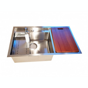 Chiuveta bucatarie inox CookingAid HERA SPACE PLUS cu dozator detergent +tocator