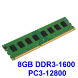 8GB DDR3-1600 PC3-12800 1600MHz , Memorie PC Desktop DDR3 Testata cu Memtest86+, DDR 3, 8 GB, Single channel