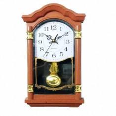 Ceas perete cu pendula Wall Clock Wallnut