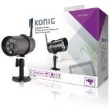 Cumpara ieftin Camera IP exterior HD Konig, functie Wi-Fi, negru
