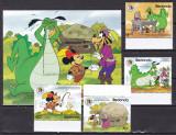 Redonda 1985 Disney Fratii Grimm serie + bloc MNH w68c, Nestampilat