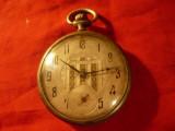 Ceas argint - Cronometru Corgemont tip Anker , 15 rubine - pt.piese ,reparabil