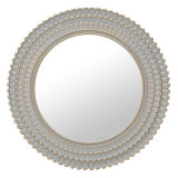 Oglinda de perete gri-auriu plastic 76 cm