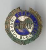 Insigna veche CCFS Concurs sportiv CAMPION orasul Bucuresti