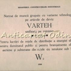 Norme De Munca Grupate Cu Variante Tehnologice Pe Articole De Deviz Varteh