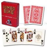 Carti de poker Modiano BIKE TROPHY 2 Jumbo Index rosu 100% plast