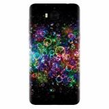 Husa silicon pentru Huawei Y6 2017, Rainbow Colored Soap Bubbles