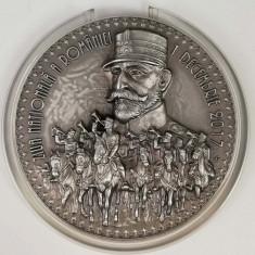 Medalie Argint 1 decembrie Marea Unire Carol I Centenar