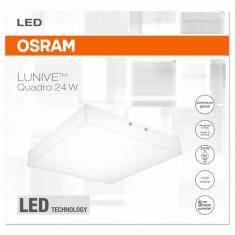 Plafoniera Led Osram, Lunive Quadro, 24W, lumina neutra(4000K),