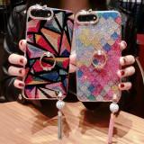 Huse stralucitoare de telefon, cu suport tip inel pentru iPhone 6s7 7 Plus 8 8 Plus