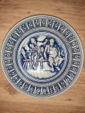 Farfurie veche perete ceramica Gerzit Germania decor vintage marcaj