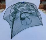 HALAU Crâsnic Varsa tip umbrela pentru raci si baboi cu 12 intrari 90 x 90 cm