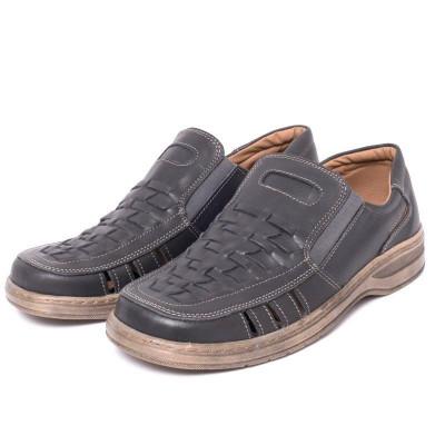 Pantofi barbati fara sireturi din piele VIC1480 foto