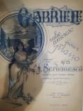 Cumpara ieftin GABRIELE, valse amoroso, J. SERBANESCO, prof. Liceul Codreanu Bârlad / Berlad
