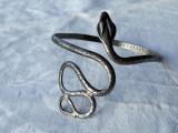 BRATARA de BRAT argint VIPERA SARPE de efect KUNDALINI INDIA veche REGLABILA