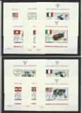 Yemen MNH 1968 - jocurile olimpice iarna olimpiada - rar (11 blocuri), Nestampilat
