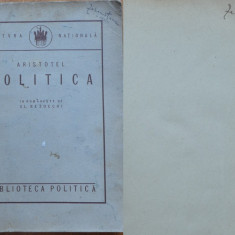 Aristotel , Politica , 1924 , exemplar semnat  in 2 locuri de Zaharia Stancu