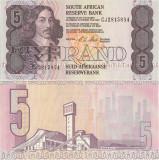 1990, 5 rand (P-119e) - Africa de Sud - stare UNC!