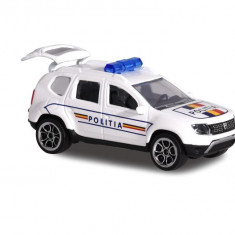Masina de jucarie pentru copii - Macheta Dacia Duster Politia Romana 7,5 cm