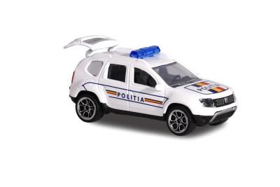 Masina de jucarie pentru copii - Macheta Dacia Duster Politia Romana 7,5 cm foto