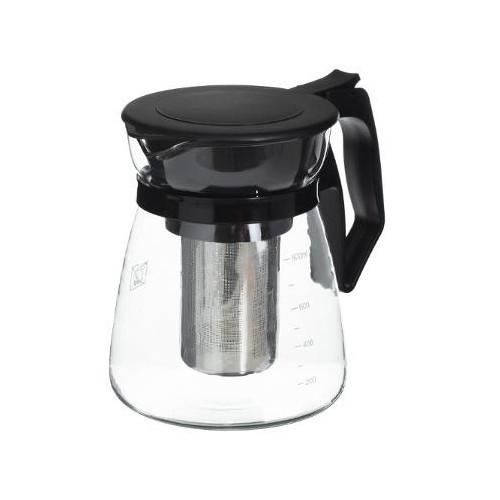 Cana infusor Secret de Gourmet® Black line, sticla, 900 ml, 12x15 cm