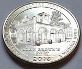 25 cents / quarter 2016 SUA, West Virginia, Harpers Ferry, litera d, America de Nord
