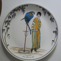 Farfurie portelan Villeroy&Boch,Design 1900,semnatura autor,26cm