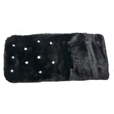 Sal din blanita cu aplicatii de perle,nuanta de negru foto