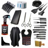 Set kit complet accesorii ustensile coafor frizerie foarfeca tuns filat BOSTON, Jaguar