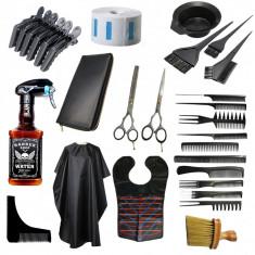 Set kit complet accesorii ustensile coafor frizerie foarfeca tuns filat BOSTON