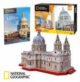 Cumpara ieftin Puzzle 3D + Brosura Catedrala St. Paul, 107 piese, CubicFun