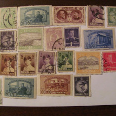 GE - Lot 23 timbre deparaiate Romania interbelice