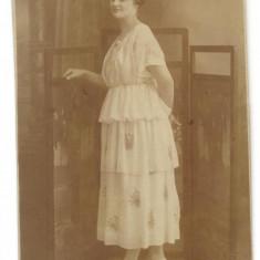 AD 1361 C. P.VECHE- DOAMNA IN TINUTA DE EPOCA -FOTO-SPLENDID N.BUZDUGAN BUC-1920