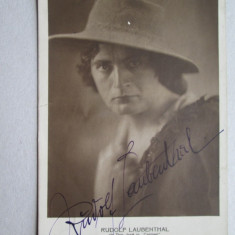 Poza veche cu Autograf: Rudolf Laubenthal, Tenor renumit in perioada 1912-33