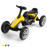 Kard cu pedale pentru copii cu 4 roți Galben