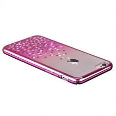 Husa Carcasa Comma Polka 360 Cristale Swarovski Pentru Iphone 6Roz, Roz, Plastic