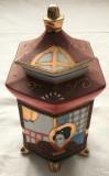 Vaza / Urna - portelan Japonia - coaja de ou - pictata manual, Seturi